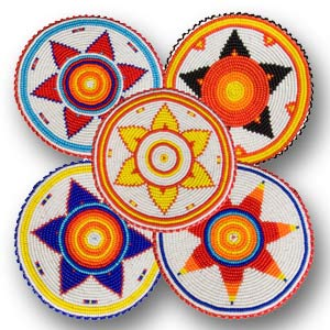 Native American Beaded Rosette Patterns http://www.crazycrow.com/newsletters/cctp_enews_aug2006.php